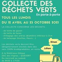 Collecte des déchets verts sur la commune nouvelle de Dinan