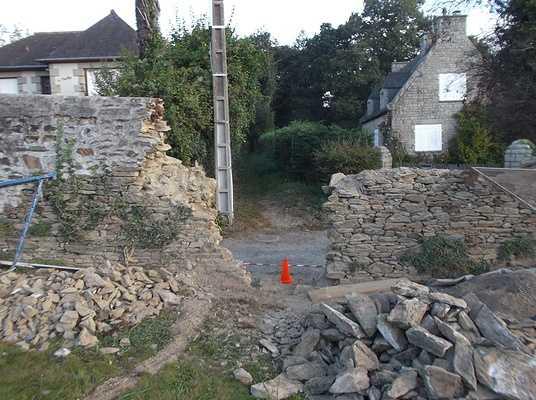 restauration de mur à minihic sur rance 0