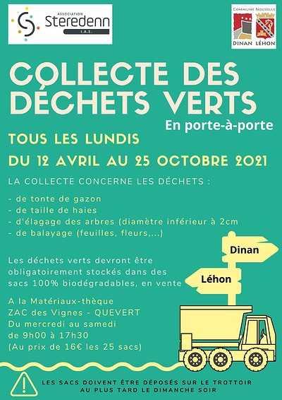 Collecte des déchets verts sur la commune nouvelle de Dinan 0